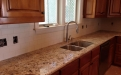 3cm granite kitchen with Daltile Ritten House square tile