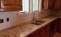 3cm granite kitchen with Daltile Ritten House square tile