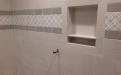 Large Niche in tile shower