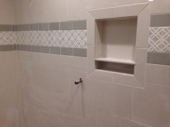 Large Niche in tile shower
